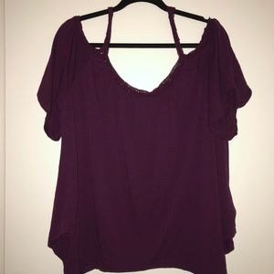 Mudd Tops - MUDD Cold shoulder blouse